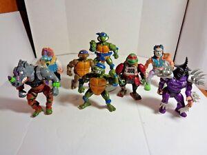 Vintage Lot of 7 TMNT Action Figures including Shredder