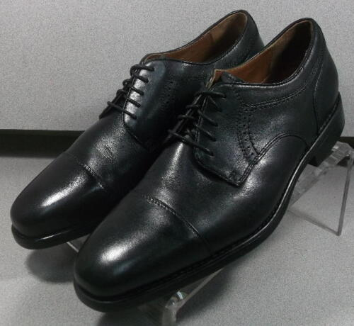 152431 PF50 Men's Shoes Size 10.5 M Black Leather Lace Up Johnston & Murphy hot sale