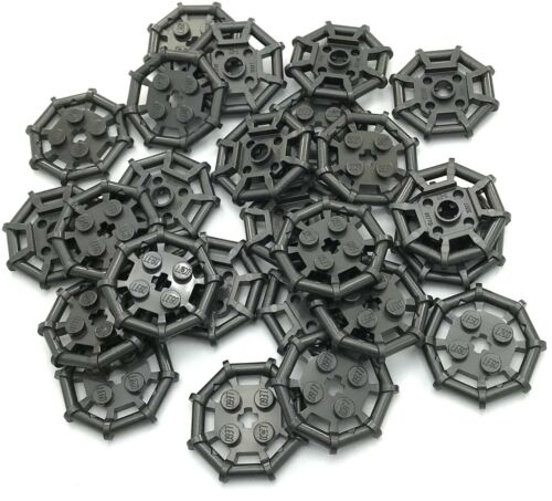 Lego Lot of 25 New Pearl Dark Gray Plates Modified 2 x 2 Bar Frame Octagonal