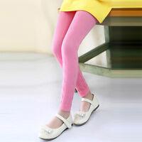 Kids Girls Fleece Leggings Winter Warm Thick Stretch Skinny Pants Trousers Botto