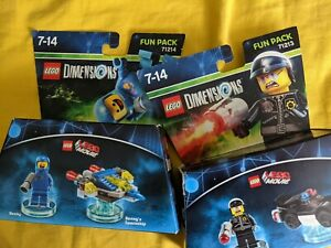 Lego Dimensions Bundle-Lego Movie Fun Packs 71214 and 71213 - Bad Cop and Benny