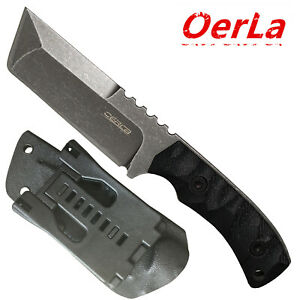 Oerla-Field-Knife-Fixed-Blade-Stonewashed-Cleaver-G10-Handle-and-Kydex-Sheath
