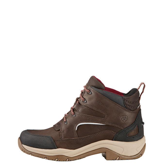 Ariat señora zapato Telluride II h20 dark marrón impermeable de vollnarbenleder