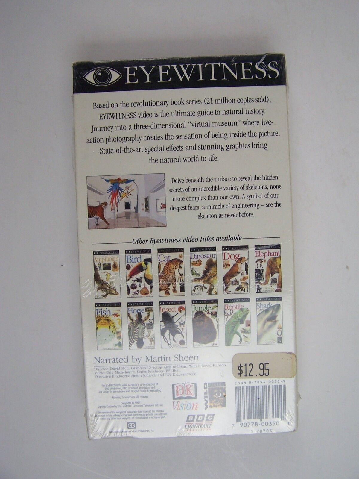 D.K. Eyewitness - Skeleton VHS Video Tape New Sealed