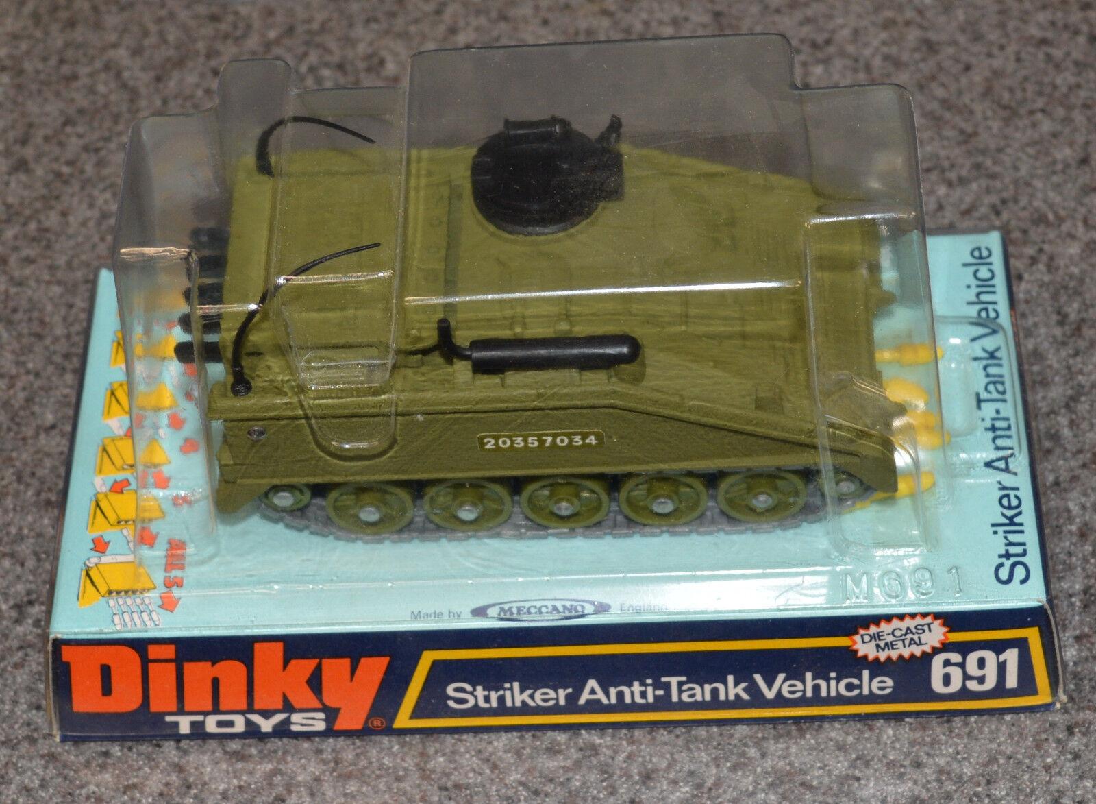DINKY TOYS 691 DIE CAST METAL STRIKER ANTI-TANK VEHICLE & BOX