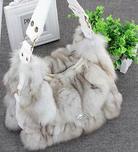 On Sale Highly Recommend Genuine Fox fur Bag handbag Sh