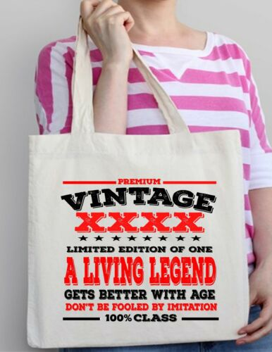 90th Birthday Gift Tote Shopper Shopping Bag year can be amended 1928 Present