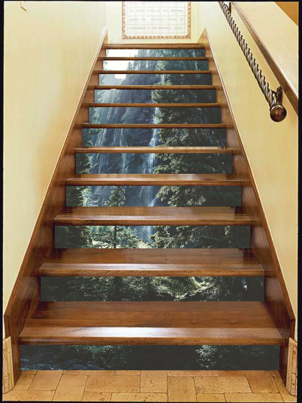 3D Forest peak Stair Risers Decoration Photo Mural Vinyl Decal Wallpaper AU