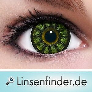 """Circle Lenses """"Sweet Green"""" Coloured Contacts Color Contact Lenses  + Free Case"""