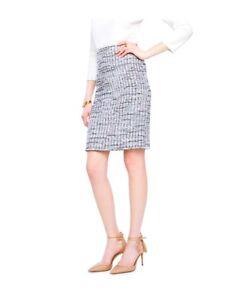 6160f10e5e NWT Ann Taylor Grid Fringe Tweed Pencil Skirt $89.00 Multi New | eBay