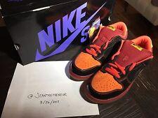 NIKE DUNK LOW PREMIUM SB HAWAII Skating Sneakers black/Orange Men Shoes Sz 11