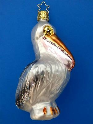 INGE GLAS PERCY THE PELICAN GERMAN BLOWN GLASS CHRISTMAS TREE ORNAMENT