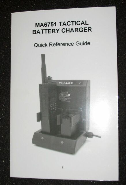 Thales Ma6751 US Military MBITR Prc 148 Tactical Radio 2 Battery Charger