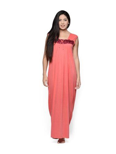 Salmoon Women/'S Nightdress Night Wear-Dress-Maxi-Nighty  Polyester Free Size