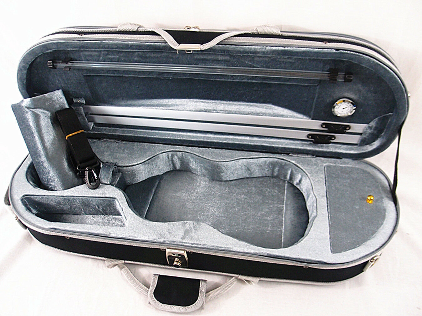 G  Interior 1 2 Enhanced Moon Shape Designed Violin Case+Free strings set