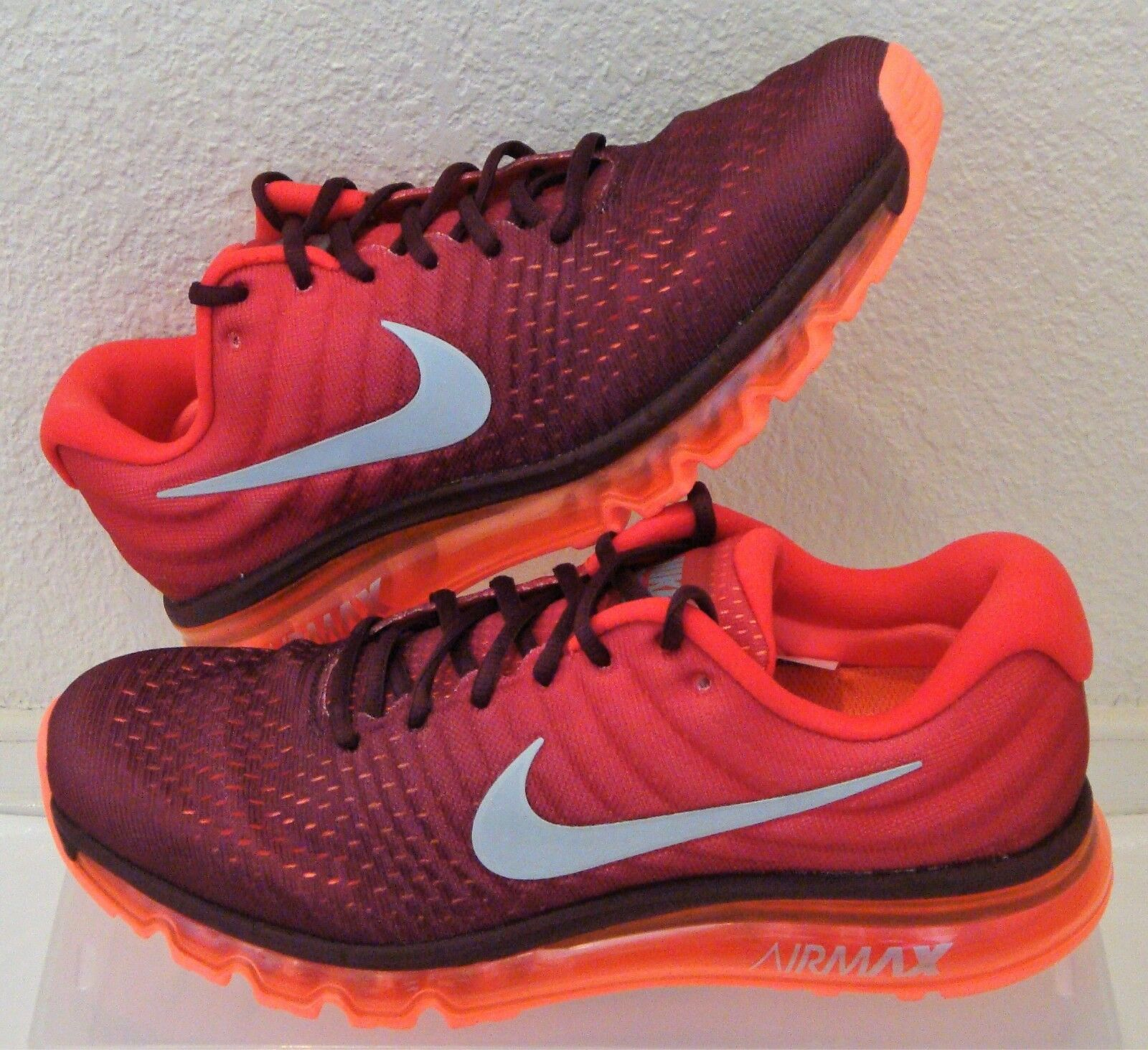 New Nike Air Max 2017 Maroon Red Mens US Size 11 CM 29