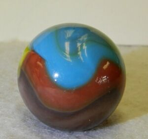 9643m Vitro Agate 5 Color Parrot Marble With a Little Aventurine .87 In