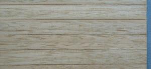 1/12, Dolls house Miniature Real Wood strip floor boards Flooring Sheet DIY LGW