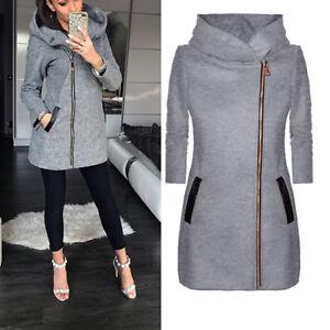 Women-Spring-Autumn-Hooded-Jacket-Coat-Outwear-Zipper-Sweat-Hoodies-Sweatshirt
