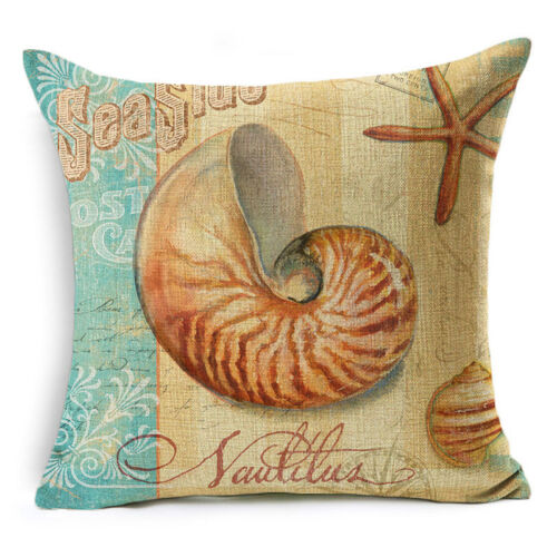 """18/""""Retro Sea Animal Cotton Linen Pillow Case Sofa Cushion Cover Throw Home Decor"""