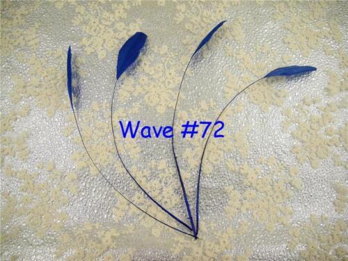 Azul Gama despojado coque Pluma Sombrerería /& Craft tocados Sombrero penacho de 10 piezas