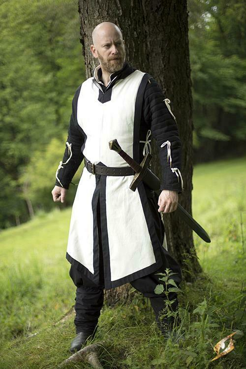 Basic Sleeveless Tabard in White for Costume, Stage, Re-enactment & LARP