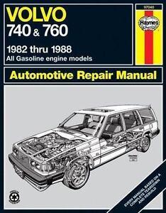 haynes repair manual volvo 740 and 760 1982 thru 1988 all rh ebay com volvo 940 haynes manual pdf volvo 940 haynes manual pdf