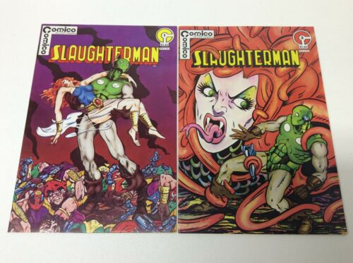 SLAUGHTERMAN #1-2 COMPLETE SET LOT OF 2 COMICO//1983//GERRY GIOVINCO//1216587