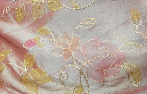 Tela Estampado Floral Tafetán Bronce O Turquesa Artesanías Confección Trajes