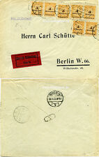 Brief Eilboten MeF Inflation Infla Köln an Firma Schütte Berlin 1923