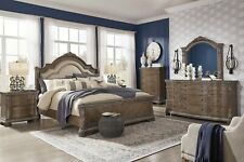 Ashley Furniture Cassimore Queen Sleigh Pearl Silver 6 Piece Bed Set B750 177 For Sale Online Ebay