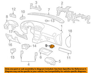 Details about FORD OEM Instrument Panel Dash-Air Vent 3W4Z19893AAC