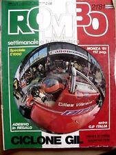 ROMBO n°21 1981 Sfida tra motoscafi tra Villeneuve e Didier Pironi [P26]