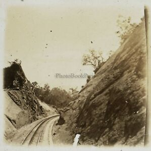 Linee Da Chemin Da Ferro Vietnam Foto Placca Da Lente Stereo L20 Vintage c1910