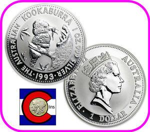 2001 Australia Kookaburra 1 oz Silver Coin BU direct from Perth Mint roll