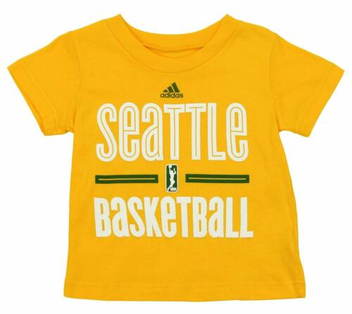 Adidas WNBA Toddlers Seattle Storm Short Sleeve Go To Tee, Yellow