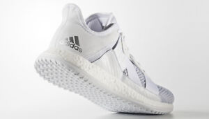 afa6d6c25 Image is loading ADIDAS-TRAINING-PURE-BOOST-ZG-TRAINER-WHITE-SILVER-