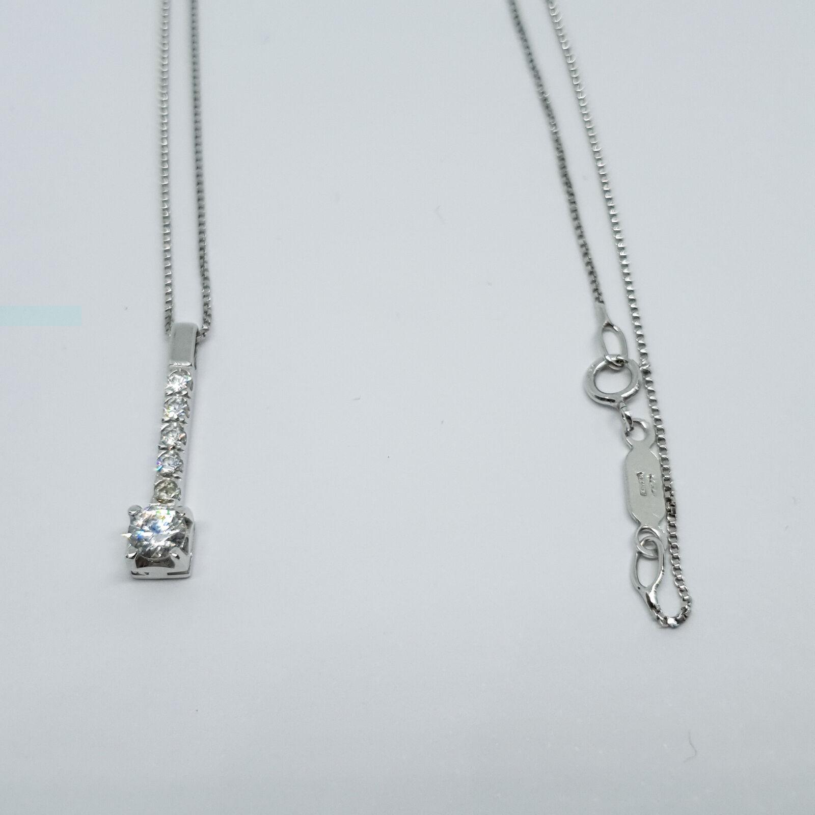 Collana in oro bianco 18 Kt 750 zirconi -590 -590 -590 VE- 3c636c