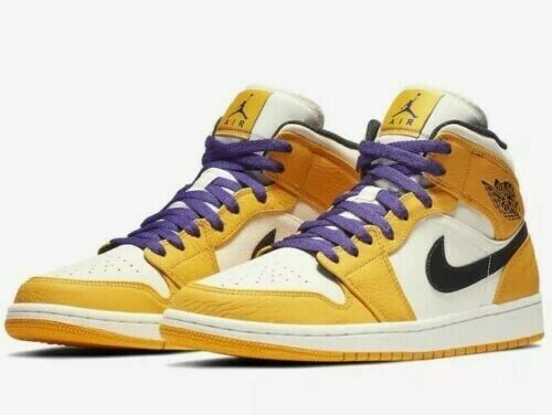 a285c79313b532 Nike Air Jordan Jordan Jordan Retro 1 Mid SE Lakers Size 9.5 852542-700 NEW