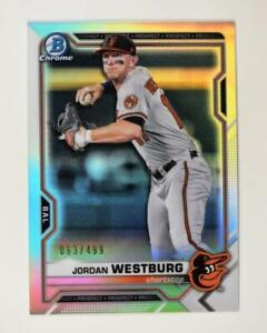 2021 Bowman Prospects Chrome Refractor #BCP-98 Jordan Westburg /499 - Orioles