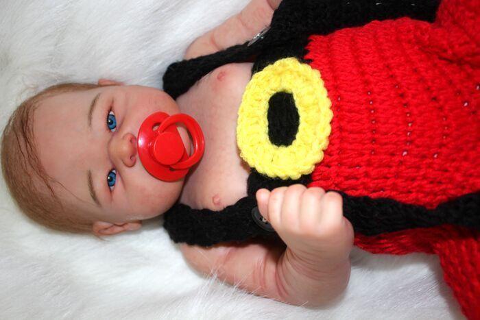 21  Bebé Niño Reborn cuerpo completo de vinilo de silicona realista Hecho a Mano Muñeca de juguete del niño