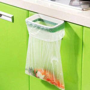 Useful Hanging Kitchen Trash Bag Garbage Cupboard Holder Storage Rack Gadget Kit