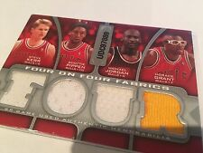 SP Four on Four Patch 2009-10 Game Used Jordan Pippen Grant Kerr Rodman
