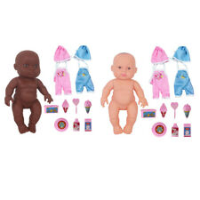 23cm Silicone Reborn Doll Realistic Girl Soft Accessories Cute Toys Gifts