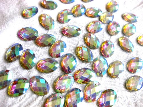 ovalada para aufnähen st70.12 60 de acrílico de pedrería-piedras fosforescentes 10x14mm