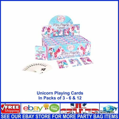 Kids Mini Unicorn Playing Cards Job Lot Wholesale Party Bag Christmas Fillers