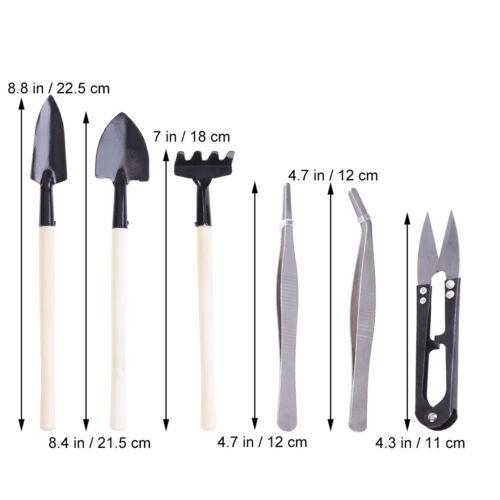 8Pcs Mini Garden Hand Tools Garden Tool Bud and Leaf Trimmer Set Bonsai Set Kit