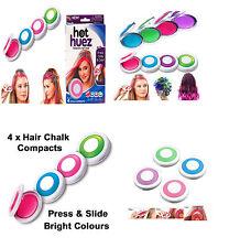 4 Colours Dye hair powdery CakeTemporary Non-toxic Hair Chalk Powder Dye Soft