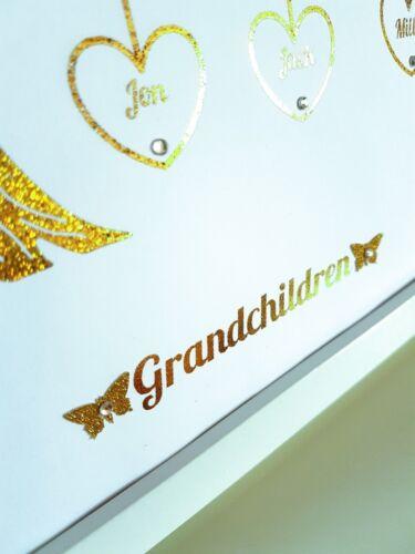 Personalised Hanging Heart Family Tree Frame Handmade Christmas Gift Wedding