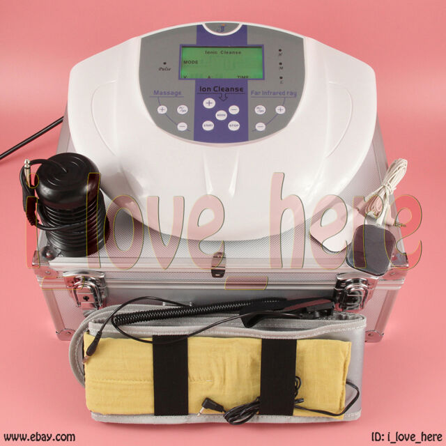 Foot Detox Machine Ion Foot Bath Spa Ionic Cell Cleanse +Far Infrared Belts Case